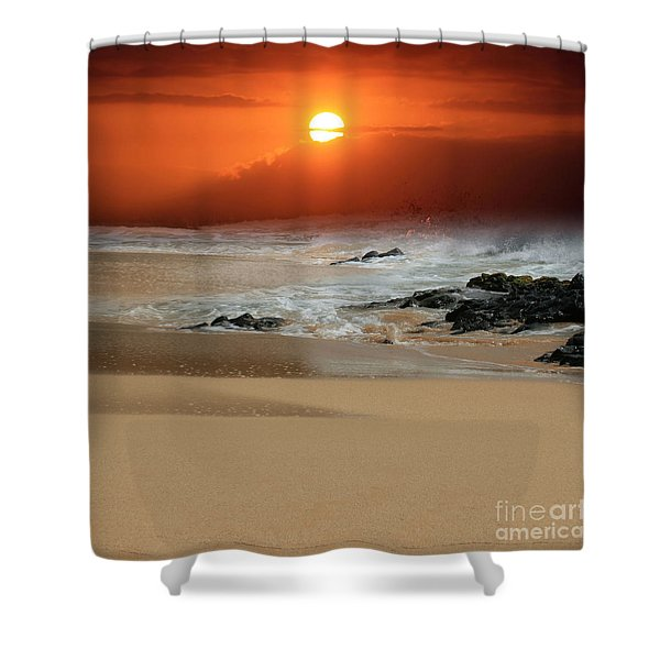 The Birth Of The Island Shower Curtain