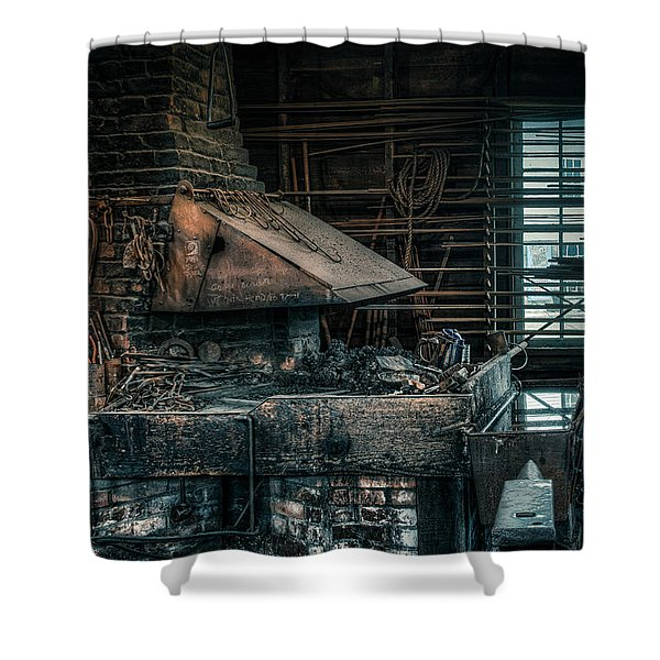 The Blacksmith's Forge - Industrial Shower Curtain