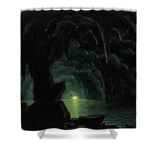 The Blue Grotto Shower Curtain