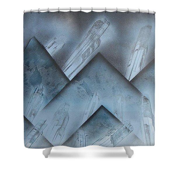 Blue Mountain Way Shower Curtain