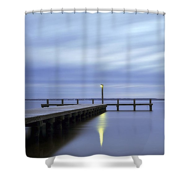 The Blues Lavallette New Jersey Shower Curtain