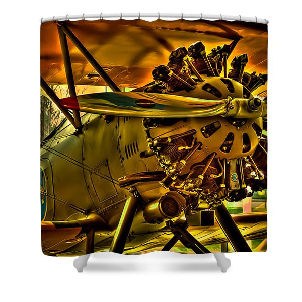 The Boeing Model 100 P-12 Shower Curtain