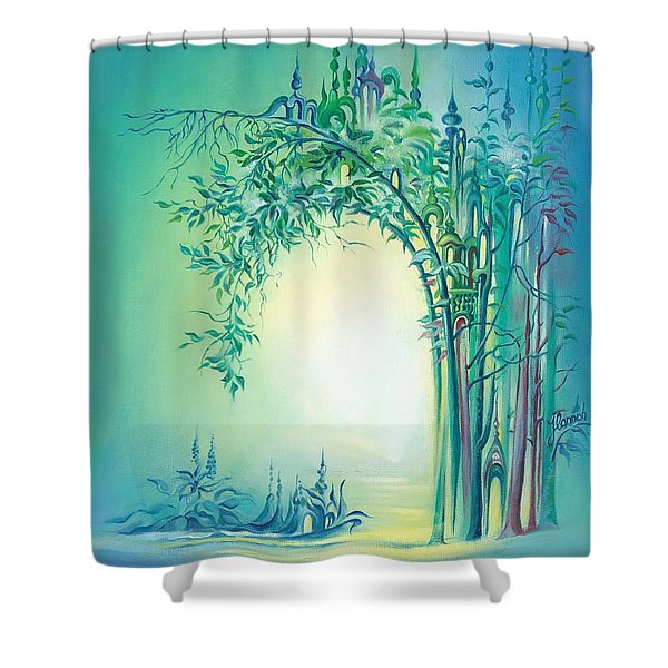 The Boundary Bush Shower Curtain