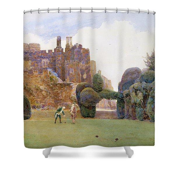 The Bowling Green, Berkeley Castle Shower Curtain