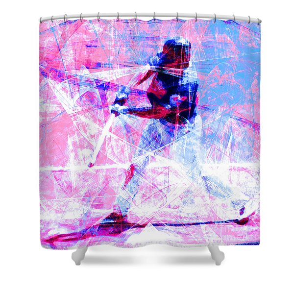 The Boys Of Summer 5d28228 The Batter Square Cool Lbb Shower Curtain