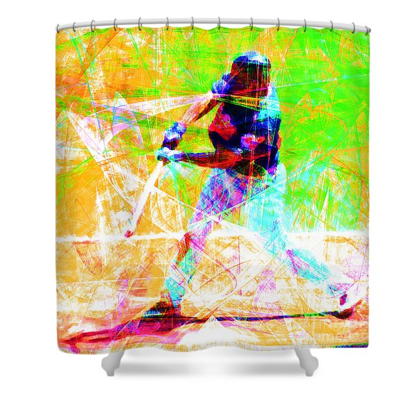 The Boys Of Summer 5d28228 The Batter Square Shower Curtain