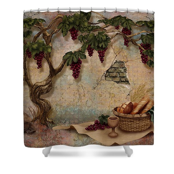 The Bread And The Vine Shower Curtain