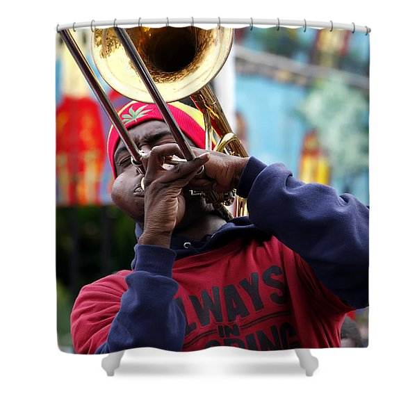 The Breath Of Jazz Shower Curtain