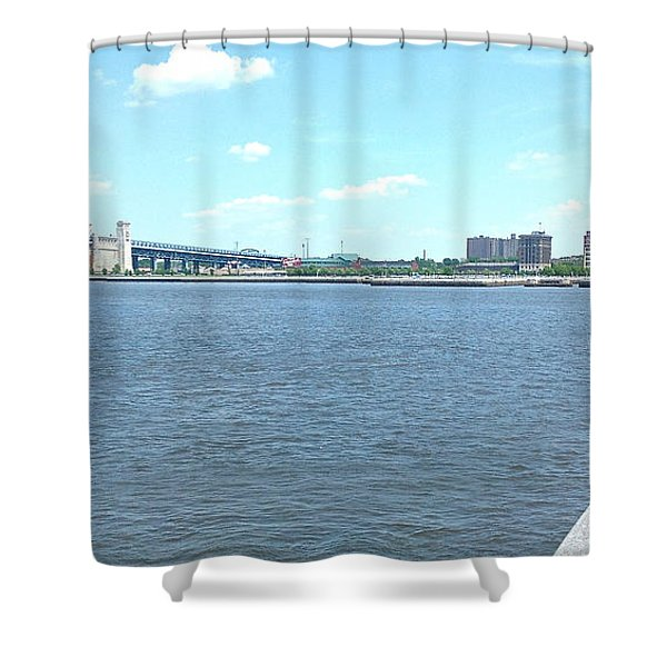 The Bridge And The River Shower Curtain