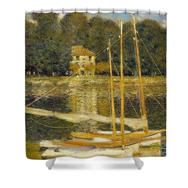The Bridge At Argenteuil Shower Curtain