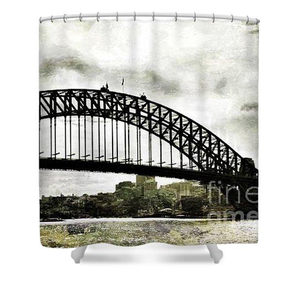 The Bridge Spattled Shower Curtain