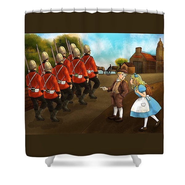 The British Soldiers Shower Curtain