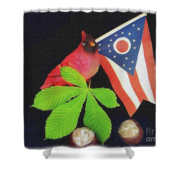 Shower Curtain featuring the photograph The Buckeye State by Charles Robinson