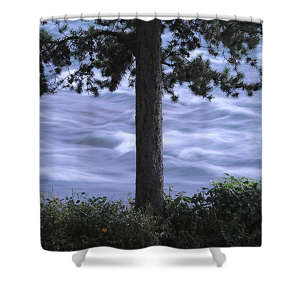 The Bulkley River Shower Curtain