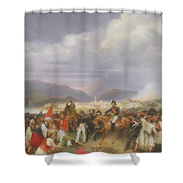 The Capture Of Morea Castle, 30th October 1828, 1836 Oil On Canvas Shower Curtain