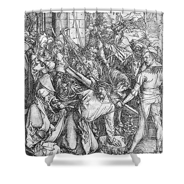 The Carrying Of The Cross Shower Curtain