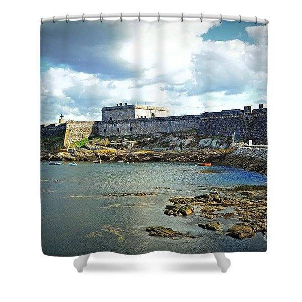 The Castle Fort On The Harbor Shower Curtain