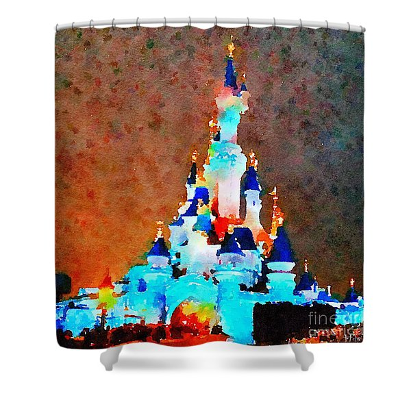 The Castle Of The Sleeping Beauty Shower Curtain