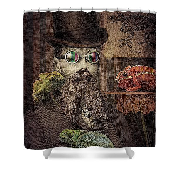 The Chameleon Collector Shower Curtain