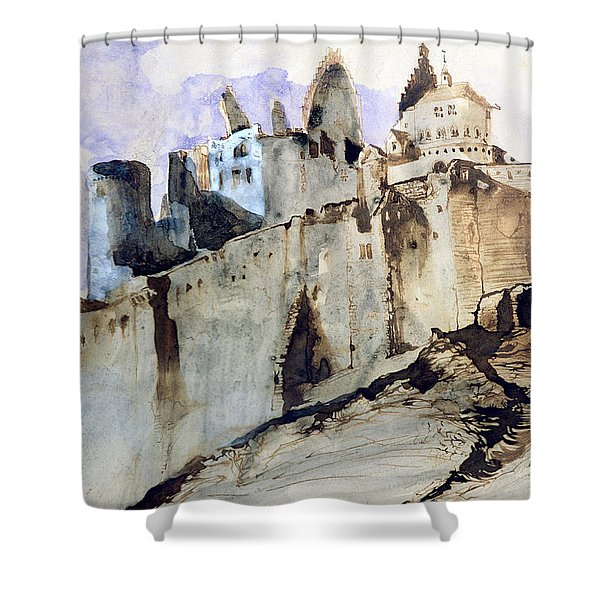 The Chateau Of Vianden Shower Curtain