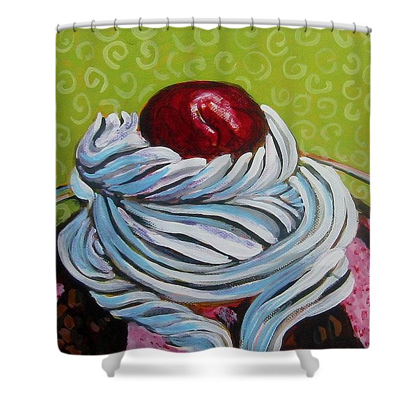 The Cherry On Top Shower Curtain