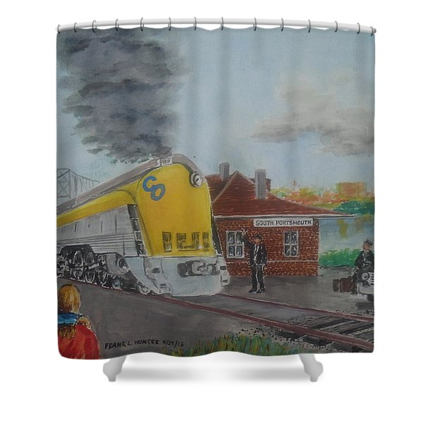 The Chesapeake And Ohio George Washington At South Portsmouth Station Shower Curtain