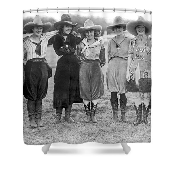 The Cheyenne Rodeo Roundup Cowgirls Shower Curtain