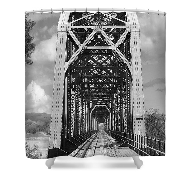 The Chicago And North Western Railroad Bridge Shower Curtain