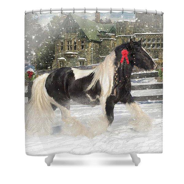 The Christmas Pony Shower Curtain