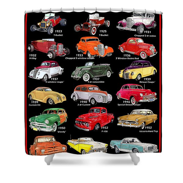 Ford Poster Art Shower Curtain