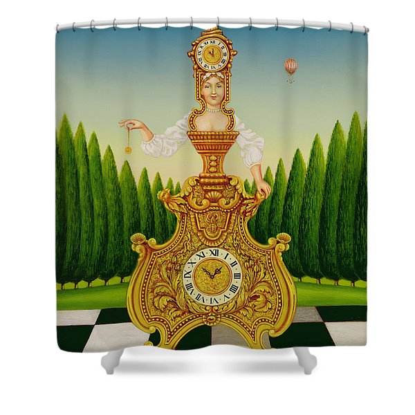 The Clockmakers Wife Shower Curtain