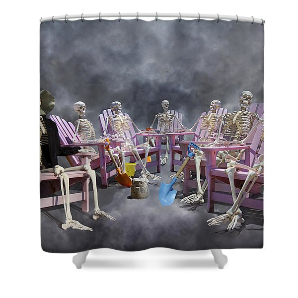 The Committee Reaches Enlightenment Shower Curtain