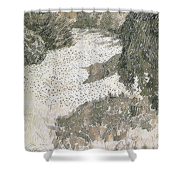 The Corner Of The Park Shower Curtain