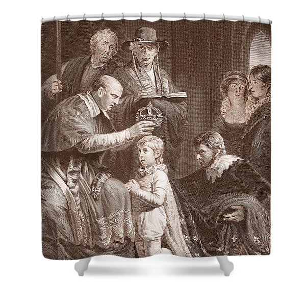 The Coronation Of Henry Vi, Engraved Shower Curtain
