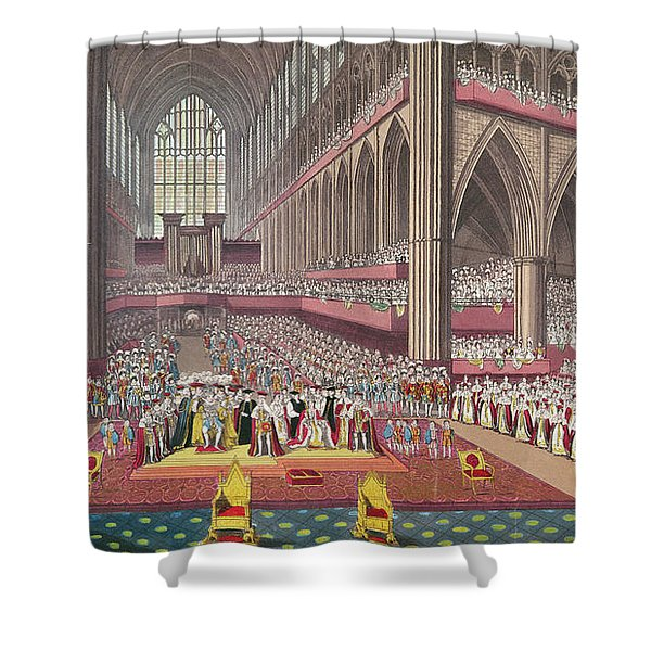 The Coronation Of King William Iv And Queen Adelaide, 1831 Colour Litho Shower Curtain