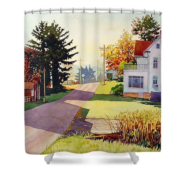 The Country Road Shower Curtain
