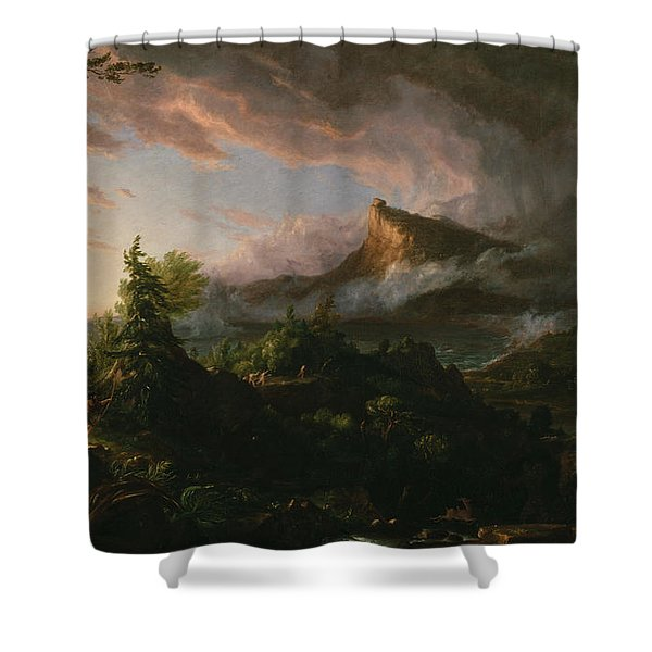 The Course Of Empire The Savage State  Shower Curtain