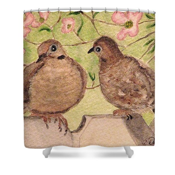 The Courtship Shower Curtain