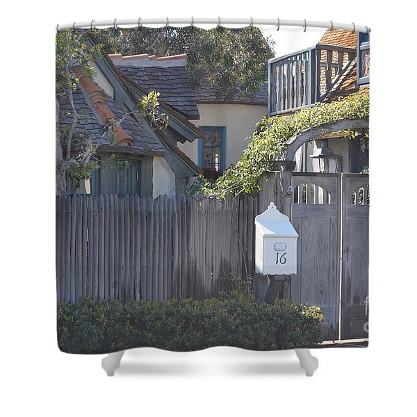 Shower Curtain featuring the photograph The Courtyard  by Laurie Lundquist