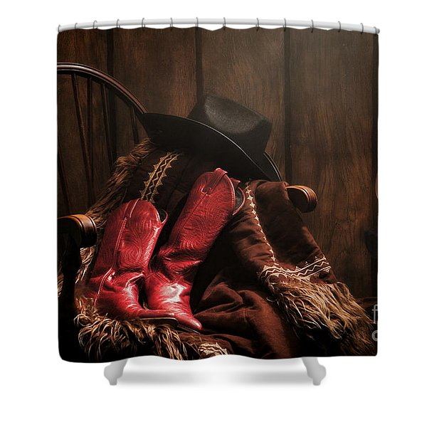 The Cowgirl Rest Shower Curtain