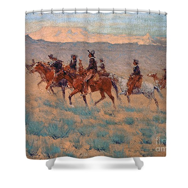 The Cowpunchers Shower Curtain