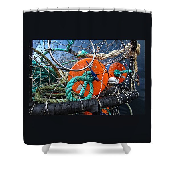 Crab Ring Shower Curtain