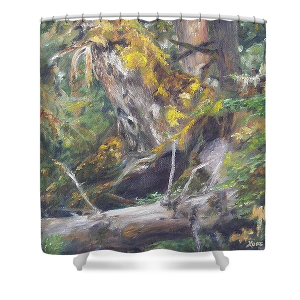 The Crying Log Shower Curtain