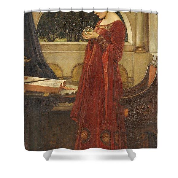 The Crystal Ball, 1902 Oil On Canvas Shower Curtain