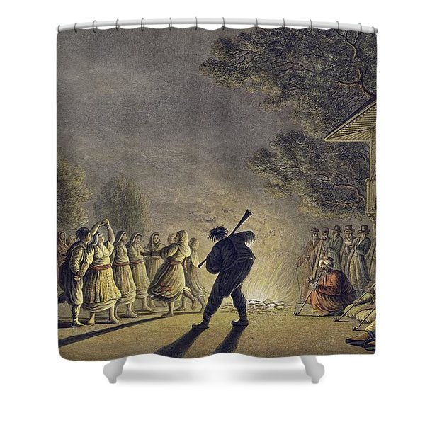The Dance Of The Bulgarian Peasants Shower Curtain