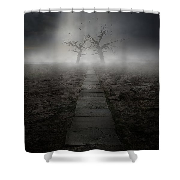 Shower Curtain featuring the photograph The Dark Land by Jaroslaw Blaminsky