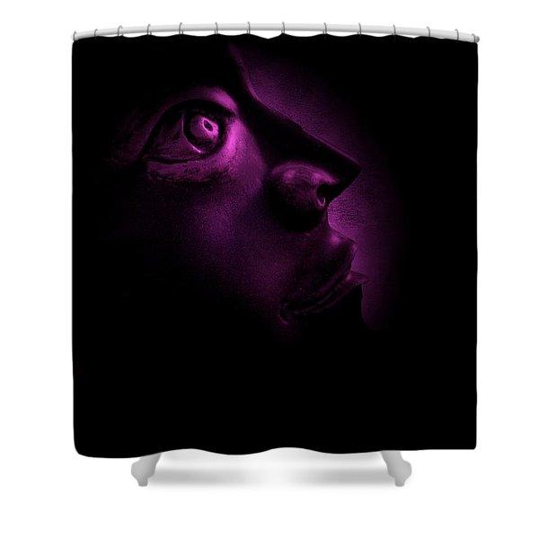The Darkest Hour - Magenta Shower Curtain