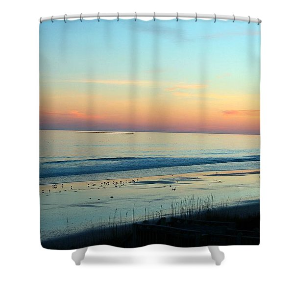 The Day Ends Shower Curtain