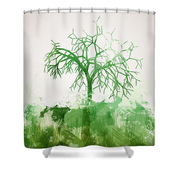 The Dead Tree Shower Curtain