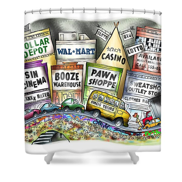 The Delights Of Modern Civilization Shower Curtain